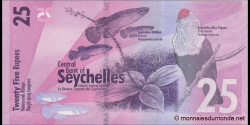 Seychelles - p48 - 25 Roupies - 2016 - Central Bank of Seychelles / Labank Santral Sesel