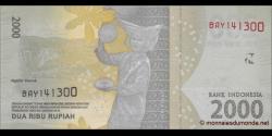 Indonésie - p155 - 2.000Roupies - 2016 - Bank Indonesia