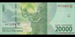 Indonésie - p158 - 20.000Roupies - 2016 - Bank Indonesia