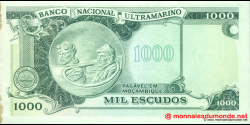 Mozambique - p119 - 1.000 Escudos - 23.05.1972 (1976) - Banco de Moçambique