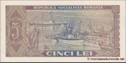 Roumanie - p093 - 5 Lei - 1966 - Banca Naţională a Republicii Socialiste România