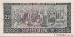 Roumanie - p095 - 25 Lei - 1966 - Banca Naţională a Republicii Socialiste România