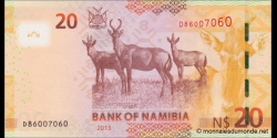 Namibie - p12b - 20 dollars - 2013 - Bank of Namibia