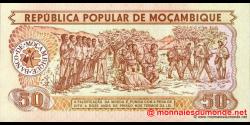 Mozambique - p129b - 50 Meticais - 16.06.1986 - República Popular de Moçambique