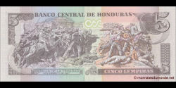 Honduras - p098a - 5 Lempiras - 01.03.2012 - Banco Central de Honduras