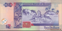 Belize - p66e - 2 Dollars - 01.11.2014 - Central Bank of Belize