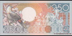Suriname - p134 - 250 Gulden - 09.01.1986 - Centrale Bank van Suriname