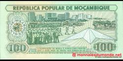 Mozambique - p130c - 100 Meticais - 16.06.1989 - República Popular de Moçambique