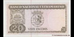 Timor Oriental - p26g - 20 Escudos - 24.10.1967 - Banco Nacional Ultramarino