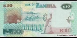 Zambie - p58 - 10 Kwacha - 2015 - Bank of Zambia