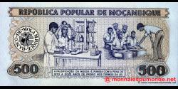 Mozambique - p131a - 500 Meticais - 16.06.1983 - República Popular de Moçambique