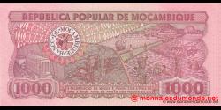 Mozambique - p132b - 1.000 Meticais - 16.06.1986 - República Popular de Moçambique