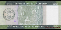 Libéria - p35a - 100 dollars - 2016 - Central Bank of Liberia