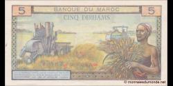 Maroc - p53c - 5 Dirhams - 1965 - Banque du Maroc