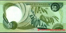 angola - p100 - 50 escudos - 21.11.1972 - Banco de Angola