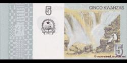 angola - p151A - 5 kwanzas - 10.2012 - Banco Nacional de Angola