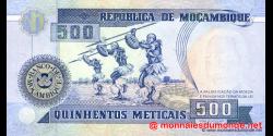 Mozambique - p134 - 500 Meticais - 16.06.1991 - República de Moçambique