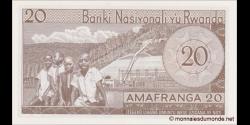 Rwanda - p06e - 20 Francs - 1.1.1976 - Banque Nationale du Rwanda / Banki Nasiyonali y'u Rwanda