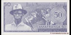 Rwanda - p07f - 50 Francs - 1.1.1976 - Banque Nationale du Rwanda / Banki Nasiyonali y'u Rwanda