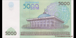 Ouzbékistan - p83 - 5.000Sum - 2003 - O'zbekiston Respublikasi Markaziy Banki