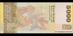 Sri - Lanka - p128c - 5 000 Roupies - 04.02.2015 - Central Bank of Sri Lanka