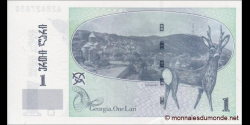 Georgie - p68a - 1 Lari - 2002 - National Bank of Georgia