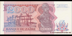 Zaire - p36 - 3.000 Zaïres - 1.10.1991 - Banque du Zaïre