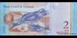Venezuela - p88b - 2 Bolívares - 19.12.2008 - Banco Central de Venezuela