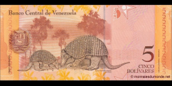 Venezuela - p89a - 5 Bolívares - 20.03.2007 - Banco Central de Venezuela
