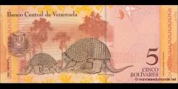 Venezuela - p89b - 5 Bolívares - 19.12.2008 - Banco Central de Venezuela