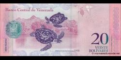 Venezuela - p91c - 20 Bolívares - 03.09.2009 - Banco Central de Venezuela