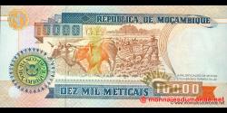 Mozambique - p137 - 10.000 Meticais - 16.06.1991 - República de Moçambique