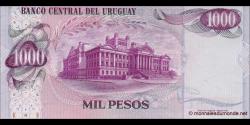 Uruguay - p52b - 1.000 Pesos - ND (1974) - Banco Central del Uruguay