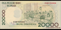 Indonésie - p138d - 20.000 Roupies - 1998 / 2001 - Bank Indonesia