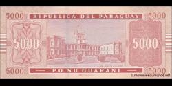 Paraguay - p223b - 5.000 Guaranies - 2008 - Banco Central Del Paraguay