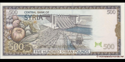 Syrie - p110c - 500 Syrian Pounds - 1998 - Central Bank of Syria