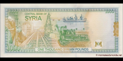 Syrie - p111b - 1 000 Syrian Pounds - 1997 - Central Bank of Syria