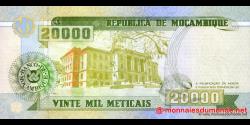Mozambique - p140 - 20.000 Meticais - 16.06.1999 - República de Moçambique