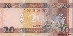 Sud - Soudan - p13b - 20 Pounds - 2016 - Bank of South Sudan