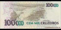 Brésil - p238 - 100 Cruzeiros Reais - ND (1993) - Banco Central do Brasil