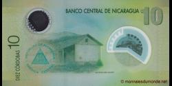 Nicaragua - p201a - 10 Córdobas - Res. 12.09.2007 - Banco Central de Nicaragua