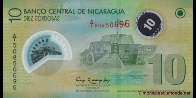 Nicaragua-p201b-10 cordobas-2007