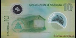 Nicaragua - p201b - 10 Córdobas - Res. 12.09.2007 - Banco Central de Nicaragua