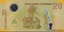 Nicaragua - p202a - 20 Córdobas - Res. 12.09.2007 - Banco Central de Nicaragua