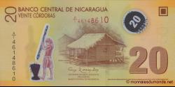 Nicaragua-p202b-20 cordobas-2007