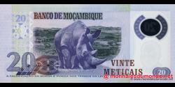 Mozambique - p149 - 20 Meticais - 16.06.2011 - República de Moçambique
