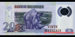 Mozambique - p149a - 20 Meticais - 16.06.2011 - República de Moçambique