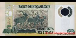 Mozambique - p150a - 50 Meticais - 16.06.2011 - República de Moçambique