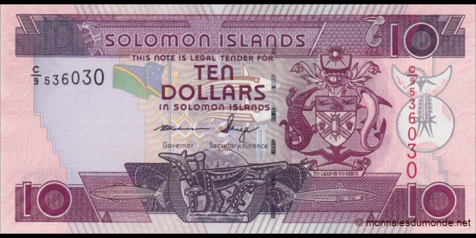 Salomon - p27c - 10 Dollars - ND (2009) - Central Bank of Solomon Islands