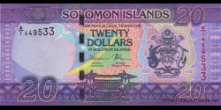 Salomon - p34a - 20 Dollars - ND (2017) - Central Bank of Solomon Islands
